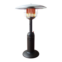 Paramount - Table Top Propane Patio Heater - Mocha - Perfect for outdoor entertaining, the Mocha Table Top Patio Heater provides warmth while adding ambience to any outdoor setting. This wonderful unit produces up to 10,500 BTUs of heat, perfect for heating your favorite outdoor space. The safety features of this CSA approved unit include an auto shut off tilt valve and tip over protection system.