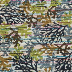 """Loloi Rugs - Loloi Rugs Aria Collection - Grey / Multi, 3'-0"""" x 3' Round - Expressive and relaxed, stylish and fun. The Aria Collection from India has it all. Pretty paisley patterns, flourishing flowers, dreamy damasks and magical medallion designs are printed onto 100% recycled cotton Chindi for scatter rugs that are flirty and fashionable. Dressed in a palette of bold, saturated colors that take you from cool blues and pinks to warm spice tones and modern tropical hues, too, Aria rugs come in select scatter sizes that will accent choice spaces with flair."""