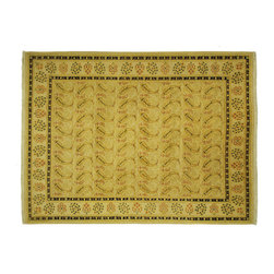 """Manhattan Rugs - Oriental RugPakistani Chobi Hand Knotted Wool Small Fish Design Rug H6259 - The word """"chobi"""" itself is Farsi for """"color like wood."""" Our Chobis tend to have large geometric floral patterns and they are all hand knotted of hand spun wool. The dyes are made entirely from hand gathered fruits, vegetables, roots, tree barks and dried fruit shells, making Chobis the most labor-intensive of all of our carpets. Natural Dye Chobis are renowned for their lanolin-rich luster and stunning natural coloring. Their colors range from soft muted tans, browns to rich coppers, deep maroons, and sage greens. Our natural dyeing techniques have been refined over the years to ensure a natural dye that is steadfast and long-lasting. A special heirloom wash produces the subtle color variations that give rugs their distinctive antique look."""
