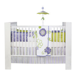 Glenna Jean - LuLu Baby Crib Bedding Set 4-Piece Set - The LuLu Crib Bedding Set is part of the new Sweet Potato Collection by Glenna Jean. This crib bedding set features a modern design with fresh and bold colors.