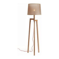 ParrotUncle - Modern Wood Tripod Floor Lamp With Artistic Fabric Shade - This leggy lovely floor lamp will let you see your decor in a whole new light. Traditional woodworking techniques go long in a modern floor lamp that simply, sleekly suits your style.