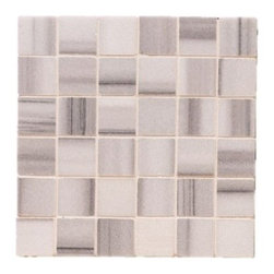 "White Honed Metro Marble - Metro Marble with 2""x2"" tiles are mounted on 12x12"" sturdy mesh tile sheet with white grout with 6 rows and 6 colons making 36 stones on each sheet. Quantity includes one 12x12"" tile. Shipping is per order."