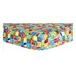 Trend Lab - Dr. Seuss Alphabet Seuss Squares Crib Sheet - Your childs bed will be soft and cozy with this stylish Dr. Seuss by Trend Lab Alphabet Seuss crib sheet. Sheet features mini alphabet squares print with adorable Seuss characters. Sheet features 8 inch deep pockets and fits a standard 52 in x 28 in crib mattress. Elastic around the entire opening ensures a secure fit. This sheet coordinates with room accessories from the Dr. Seuss by Trend Lab Alphabet Seuss collection.