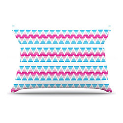 """Kess InHouse - Apple Kaur Designs """"Swimming Pool Tiles"""" Blue Pink Pillow Case, Standard (30"""" x - This pillowcase, is just as bunny soft as the Kess InHouse duvet. It's made of microfiber velvety fleece. This machine washable fleece pillow case is the perfect accent to any duvet. Be your Bed's Curator."""