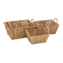 Simply Incredible Seagrass Basket, Set of 3 - Description: