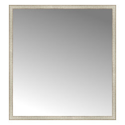 """Posters 2 Prints, LLC - 55"""" x 59"""" Libretto Antique Silver Custom Framed Mirror - 55"""" x 59"""" Custom Framed Mirror made by Posters 2 Prints. Standard glass with unrivaled selection of crafted mirror frames.  Protected with category II safety backing to keep glass fragments together should the mirror be accidentally broken.  Safe arrival guaranteed.  Made in the United States of America"""