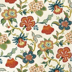 "F. Schumacher - Hothouse Flowers Fabric, Spark - 2 Yard Minimum Order. This fabric print, Hothouse Flowers, by F. Schumacher is 100% linen and comes in 3 color-ways. Repeats - V50.375"" & H27""."