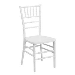Flash Furniture - Flash Elegance White Resin Stacking Chiavari Chair - If you've been to a wedding, chances are you've sat in a Chiavari chair. Chiavari Chairs have become a classic in the event industry and are also highly popular in high profile entertainment events. This chair is used in all types of elegant events due to its lightweight, stacking capabilities and elegant design. Keep your guests comfortable with optional cushions and keep your chairs beautiful with chair covers.