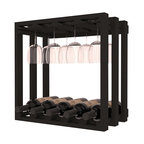 Wine Racks America - Wine Storage Stemware Cube in Ponderosa Pine, Black Stain - Designed to stack one on top of the other for space-saving wine storage our stacking cubes are ideal for an expanding collection. Use as a stand alone rack in your kitchen or living space or pair with the 20 Bottle X-Cube Wine Rack and/or the 16-Bottle Cubicle Rack for flexible storage. Choose From optional Industry Leading Quality Eco-Friendly Stains Paired with an Immaculate Satin Finish.  Each have custom finishes and are professionally stained to order, so please allow 2-3 weeks after your purchase for your order to be shipped. Store up to 5 Bottles of Wine PLUS 8 wine glasses! Width: 18 7/16 Height: 18 7/16 Depth: 10 5/8. Smooth hand-sanded edges. Assembly May Be Required. Money Back Guarantee + Lifetime Warranty.