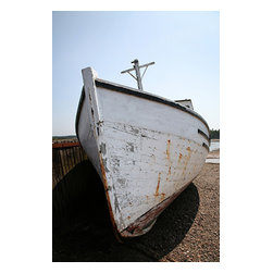 Custom Photo Factory - Abandoned Boat on Shore Canvas Wall Art - Abandoned Boat on Shore  Size: 20 Inches x 30 Inches . Ready to Hang on 1.5 Inch Thick Wooden Frame. 30 Day Money Back Guarantee. Made in America-Los Angeles, CA. High Quality, Archival Museum Grade Canvas. Will last 150 Plus Years Without Fading. High quality canvas art print using archival inks and museum grade canvas. Archival quality canvas print will last over 150 years without fading. Canvas reproduction comes in different sizes. Gallery-wrapped style: the entire print is wrapped around 1.5 inch thick wooden frame. We use the highest quality pine wood available. By purchasing this canvas art photo, you agree it's for personal use only and it's not for republication, re-transmission, reproduction or other use.