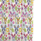 Luxor Linens - Bambi Butterflies Shower Curtains - Shower yourself in bright flowers and beautiful butterflies with this sweet, sunny curtain. Boldly patterned, vibrantly colored and fresh as a daisy, it's sure to put a spring in your decor's step.