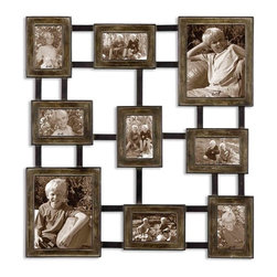 Uttermost - Uttermost Lucho Hanging Photo Collage Wall Art - Uttermost Lucho Hanging Photo Collage is a Part of Grace Feyock Designs Collection by Uttermost Create a collage of your favorite photos with this hanging photo collage made of hand forged metal finished in dark burnished wash with silver undertones and aged black details. Holds 2-8x10, 3-4x6, 4-6x4 Metal Wall Art (1)