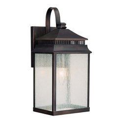 Capital Lighting - Capital Lighting 9111OB Sutter Creek Outdoor Wall Light - Transitional Outdoor Wall Light in Olde Bronze with Seeded glass from the Sutter Creek Collection by Capital Lighting.