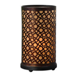 Uttermost - Keene Metal Rings Buffet Lamp - If dining room ambience is what you're after, look to the Old World warmth of this metal buffet lamp to light the way. A cylinder of antique bronze circles wraps around a mica liner adding just the right the glow to your tabletop or dining room buffet.