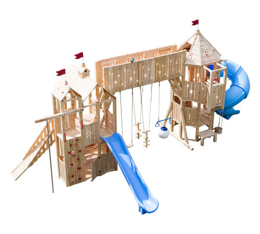 CedarWorks - CedarWorks Frolic 12 Swingset - I am looking for something beautiful but also want it to be sturdy and long lasting. Frolic playsets are all that and more. The splinter free Northern White Cedar we use is all natural and long-lasting. The average lifespan for Northern White Cedar is 15-20 years without chemical stains/sealers and it will hold 2,000 pounds so it is sturdy enough for the whole family to play.