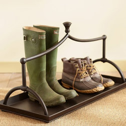 Parker Shoe Tray - No entryway is complete without a boot tray. This Pottery Barn version will help you weather many winters, as well as keep your floors dry.