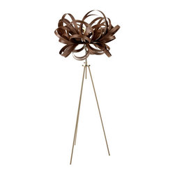 EcoFirstArt - Butterfly Floor Lamp - Like a butterfly ready for flight, this stunning floor lamp, handmade of sustainable wood, showcases the playfulness of light and shadows. You might even want to move it around each room in your home, just for added drama and feng shui good luck.