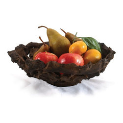 Enrico - Enrico Large Driftwood Fruit Bowl - -Made from hand-collected and environmentally-friendly material