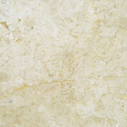 Crema Nuova - This creamy, swirling marble is very elegant and has suppressed movement would work equally well in a white kitchen for subtle shading or a warm wood kitchen making a bit more of a statement.