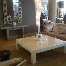 Jimeco products in the USA and Europe - Alameda Coffee table, in a natural color parchment.