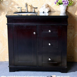 Legion Furniture - Legion Furniture 37W x 22D in. Kingston Stone Vanity Top Multicolor - LGN406 - Shop for Bathroom Counter Tops from Hayneedle.com! Even small spaces deserve big-statement style - and the Legion Furniture 37W x 22D in. Kingston Stone Vanity Top delivers. Crafted with a slab of -inch thick squared-edge granite in your choice of absolute black or Egypt beige marble this rich countertop will correlate with your existing bathroom decor nicely. Vanity top features an oval sink cutout and three pre-drilled faucet holes for an 8-inch spread. About Legion FurnitureLegion Furniture is a Sacramento California-based company that specializes in commercial and residential furniture. The company offers thousands of items all made by expert craftsmen. Their product lines incorporate a wide variety of styles to address the needs of every designer. From contemporary vanities to traditional barstools Legion Furniture can outfit your home in the style of your dreams.