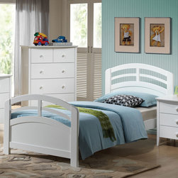 "Acme Furniture - Twin Bed in White - Twin Bed in White; Finish: White; Dimensions: 39""H"