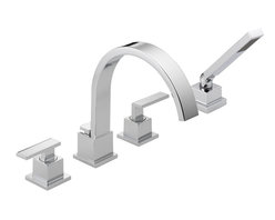 Delta - Vero Roman Tub Faucet Trim with Handshower - Delta T4753 Vero Roman Tub Faucet Trim with Handshower in Chrome.