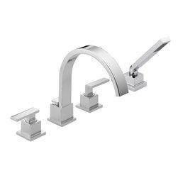 Delta - Vero Roman Tub Faucet Trim with Handshower - Delta T4753 Vero Roman Tub Faucet Trim with Handshower in Chrome.