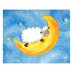 Oh How Cute Kids by Serena Bowman - Sweet Dream Sheep, Ready To Hang Canvas Kid's Wall Decor, 11 X 14 - Each kid is unique in his/her own way, so why shouldn't their wall decor be as well! With our extensive selection of canvas wall art for kids, from princesses to spaceships, from cowboys to traveling girls, we'll help you find that perfect piece for your special one.  Or you can fill the entire room with our imaginative art; every canvas is part of a coordinated series, an easy way to provide a complete and unified look for any room.