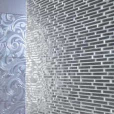 Contemporary Tile Glass  Mirror - Dune - linear mirror glass mosaic brick