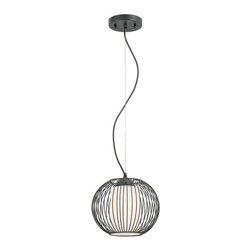 "Eurofase Lighting - Eurofase Lighting 20361 8""H 1 Light Down Lighting Pendant from the Avila Collect - Transitional 8""H 1 Light Down Lighting Pendant from the Avila CollectionA blend of color and texture give these pendants presence in any environment.Features:"