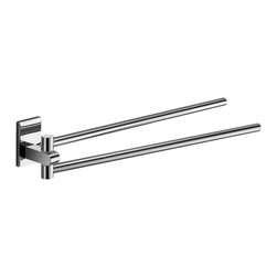 Gedy - 14 Inch Polished Chrome Swivel Towel Bar - This solid brass towel bar with a polished chrome finish features two adjustable arms that swivel conveniently, so you can position your towels any way you like. A handy addition to your contemporary bathroom.