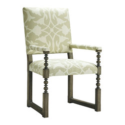 Baker Furniture - Breton Dining Chair - With a comfortably tailored rectilinear look, the Breton offers the wit and whimsy of an old world   classic without all the distractions.  An exotic spool turning adds just the right surface for the Designer Palette paint program.  This is a canvas for an endless variety of fabrics and finishes, and the Breton delivers.