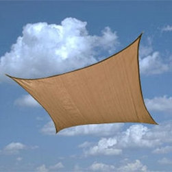 ShelterLogic 16 ft. Square Shade Sail - Create your own shade environment with our versatile outdoor Sun Shade Sails. Provides customizable sun protection innovative design quality features all at an affordable price. Full 16x16 coverage. Sand earth tone color fabric.