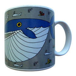 Taylor and Ng - Classy Critter Whopper Whale Mug - Taylor & N - Whopper Whale in a color design on a White 11 oz Ceramic mug. Dishwasher, microwave safe. Classy Critter Mugs collection. Stackable for easy storage. 3.25 in. L x 3.25 in. W x 3.5 in. H