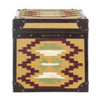 Diyogi Box - Inspired by the vibrant traditional blankets of Navajo weavers, this jute-wrapped steamer trunk is a burst of Southwest flavor for your living room. Store blankets, projects, toys, and more in its generous insides, and use the sturdy top as an unusual end table.