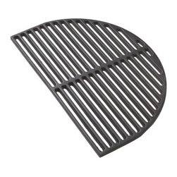Primo Half Moon Cast Iron Searing Grate - Bring out the flavor with the Primo Half Moon Cast Iron Searing Grate. This grate is designed to keep your food on the grill, not in it. Cast iron is non-stick and provides premium searing for maximum flavor. It also distributes heat evenly for better cooking qualities. Made for the Primo grill, this grate opens up your outdoor cooking opportunities.