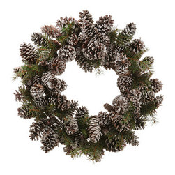 Silk Plants Direct - Silk Plants Direct Pine Cone and Pine Wreath (Pack of 1) - Silk Plants Direct specializes in manufacturing, design and supply of the most life-like, premium quality artificial plants, trees, flowers, arrangements, topiaries and containers for home, office and commercial use. Our Pine Cone and Pine Wreath includes the following: