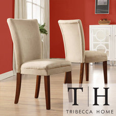 Dining Chairs TRIBECCA HOME Parson Classic Peat Microfiber Side Chairs (Set of 2)