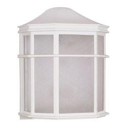 Nuvo Lighting - Nuvo Lighting 60/537 Single Light Ambient Lighting Outdoor Wall Sconce - *Single light ambient lighting outdoor wall sconce featuring white acrylic panels