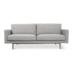Gus Modern - Gus Modern Bloor Sofa - So, you decided that you need some sense of structure to your home life? This sofa — with simple, architectural lines and refined sense of style — might do the trick. Wherever you need a little civilized influence — library, living room, office or family room — consider this handsome, space-saving sofa.