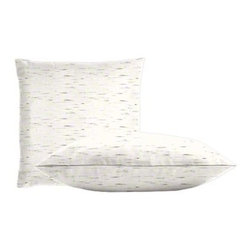 "Cushion Source - Sunbrella Frequency Parchment Throw Pillow Set - The Sunbrella Frequency Parchment Outdoor Throw Pillow Set consists of two 18"" x 18"" throw pillows featuring a charcoal and white Birch bark appearance."