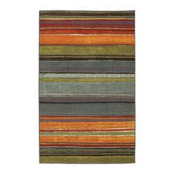 Mohawk Home - Mohawk Home Rainbow Multi Stripe Rug (1'8x2'10) - Bring some rainbow brights into your decor with this multicolored Mohawk home rug. Featuring a vibrant array of sunset hues, this rug boasts a fade-resistant construction for long-lasting beauty and is super-soft underfoot to soothe tired feet.