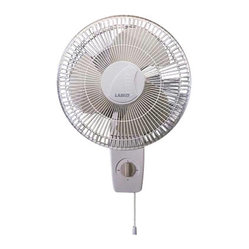 "Lasko Products - Oscillating Wall-mount Fan 12 "" - Here's how to outsmart a sticky situation: Mount this oscillating fan to any wall, then sit back and enjoy the widespread breeze. With a tilt and lock head, three speeds and near-silent operation, you'll be cool, calm and comfortable."