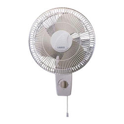 """Lasko Products - Oscillating Wall-mount Fan 12"""" - Here's how to outsmart a sticky situation: Mount this oscillating fan to any wall, then sit back and enjoy the widespread breeze. With a tilt and lock head, three speeds and near-silent operation, you'll be cool, calm and comfortable."""