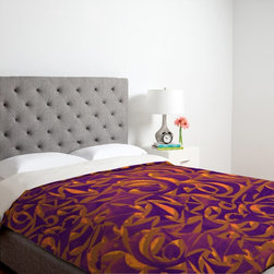 DENY Designs - DENY Designs Wagner Campelo Abstract Garden 1 Duvet Cover - 13518-DUWKIN - Shop for Duvets from Hayneedle.com! The DENY Designs Wagner Campelo Abstract Garden 1 Duvet Cover adds a bold dramatic flair to your bedroom. Available in your choice of vivid color schemes this duvet cover has a durable polyester microfiber construction and is machine washable for easy care.About DENY DesignsDenver Colorado based DENY Designs is a modern home furnishings company that believes in doing things differently. DENY encourages customers to make a personal statement with personal images or by selecting from the extensive gallery. The coolest part is that each purchase gives the super talented artists part of the proceeds. That allows DENY to support art communities all over the world while also spreading the creative love! Each DENY piece is custom created as it's ordered instead of being held in a warehouse. A dye printing process is used to ensure colorfastness and durability that make these true heirloom pieces. From custom furniture pieces to textiles everything made is unique and distinctively DENY.
