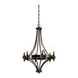 6-Light Distressed Iron Chandelier - This is a fixture that I came across when looking for something to go over the clawfoot tub. I do not quite have the ceiling height for it, but it is a great fixture with an awesome price.