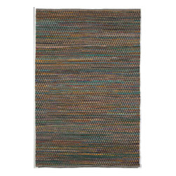 "Trans-Ocean - Meadows Emerald 24"" x 36"" Indoor/Outdoor Flatweave Rug - Subtle color variation from the recycled Sari fabric combined with the interesting texture of the rubber creates a beautiful alternative to a solid rug. A mixture of Rubber, Polypropylene, and Polyester is Hand Woven in India and great for any indoor or outdoor space. The materials are intricately woven forming depth of pattern within this flat weave style."