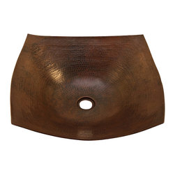 Artesano Copper Sinks - Square Vessel Bathroom Copper Sink - Very thick gauge 14 - Square Vessel Bathroom Copper Sink 18 x 18 x 5.5 for Over the Counter or Vessel installation, thick gauge 14, all hand made, all copper, all hammered