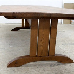 Mission Trestle Table From Old Barn Boards - Made by www.ecustomfinishes.com